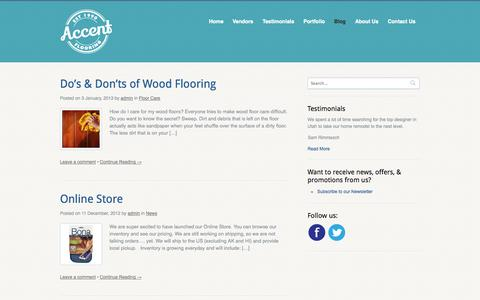 Screenshot of Blog myaccentflooring.com - Posts | Accent Flooring - captured Oct. 4, 2014
