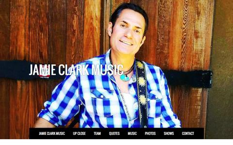 Screenshot of Contact Page jamieclarkmusic.com - JAMIE CLARK MUSIC - CONTACT - captured Nov. 16, 2016