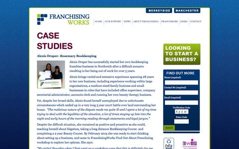 Screenshot of Case Studies Page franchisingworks.org - Case Studies | FranchisingWorks - captured Sept. 30, 2014