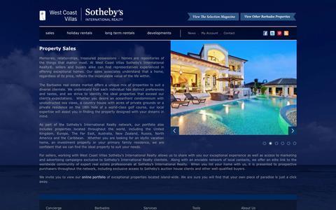 Screenshot of Services Page westcoastvillas.com - Property Sales • Services • West Coast Villas • Barbados - captured Oct. 7, 2014