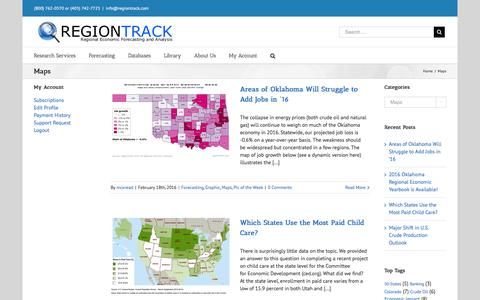 Screenshot of Maps & Directions Page regiontrack.com - Maps – RegionTrack - captured Feb. 26, 2016