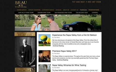 Tour Blog - Beau Wine Tours & Limousine Service