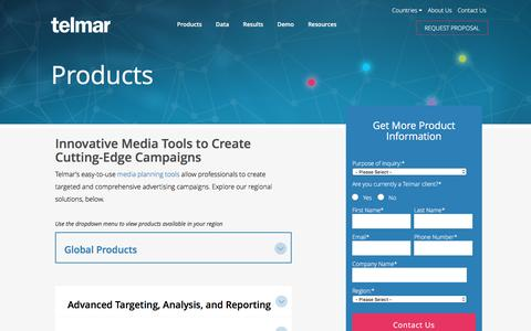 Products - Media Planning - Telmar