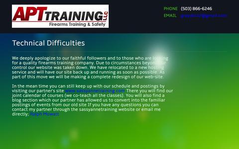 Screenshot of Home Page nw-apt.com - NW-APT Training - captured Oct. 4, 2014