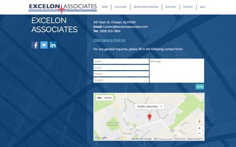Screenshot of Contact Page excelonassociates.com - Contact Us! Excelon Associates - captured Nov. 13, 2016