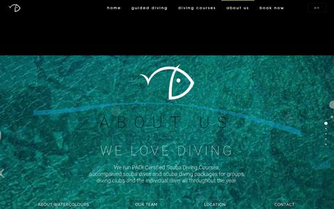 Screenshot of About Page maltadiving.com - About Us - Watercolours Dive Centre - captured Oct. 18, 2018