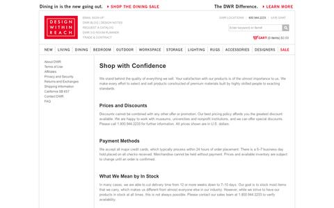 Screenshot of Support Page dwr.com - Customer Service - Design Within Reach                                           - Design Within Reach - captured Sept. 11, 2014