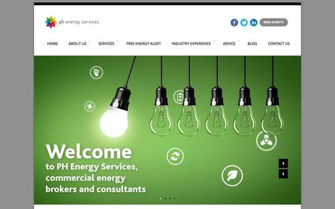 Screenshot of Home Page phbusinessservices.co.uk - UK Energy Consultants and Brokers – PH Energy Services - captured Sept. 26, 2015