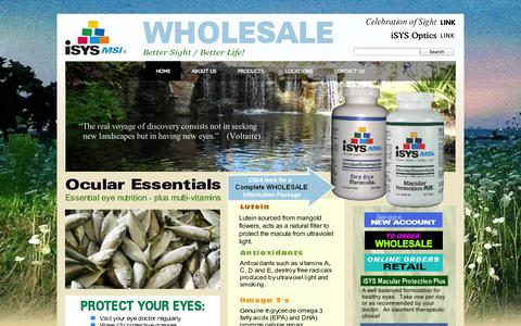 Screenshot of Home Page isysmsi.com - Home - captured Oct. 6, 2014