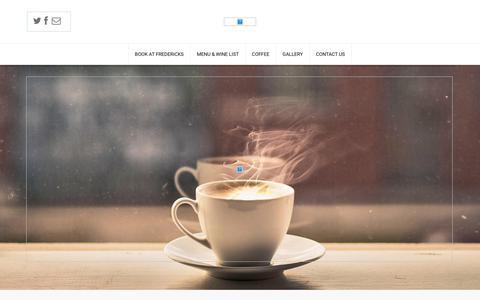 Screenshot of Home Page frederickscoffeehouse.com - Fredericks | Coffee House - captured June 6, 2017