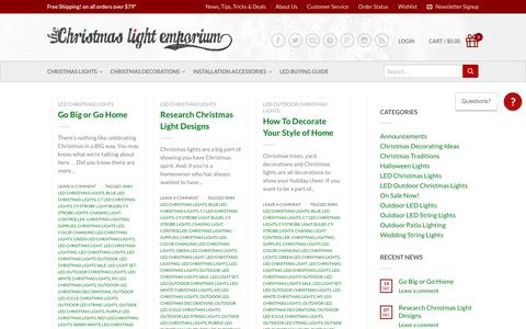 Screenshot of Press Page thechristmaslightemporium.com - LED Christmas Lights | Chasing Light Controller | Christmas Lighting Supplies - The Christmas Light Emporium - captured Jan. 3, 2017