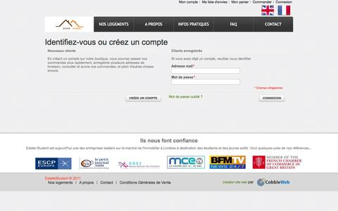 Screenshot of Login Page estatestudent.com - Identifiant client - captured Sept. 30, 2014