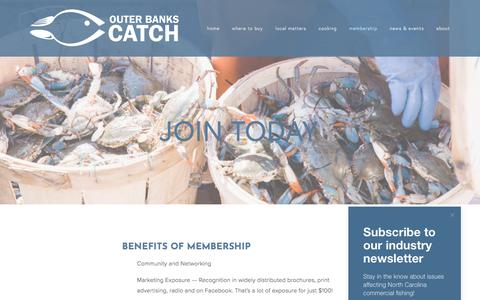 Screenshot of Signup Page outerbankscatch.com - Join Today — Outer Banks Catch - captured Nov. 12, 2017