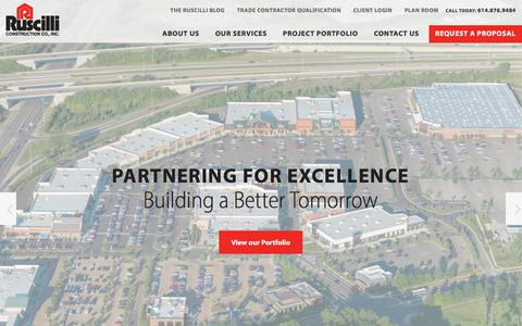Screenshot of Home Page ruscilli.com - Columbus, Ohio Construction Company | Ruscilli - captured Nov. 3, 2017