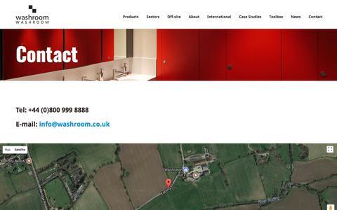 Screenshot of Contact Page washroom.co.uk - Washroom Washroom - Contact - captured Oct. 19, 2017