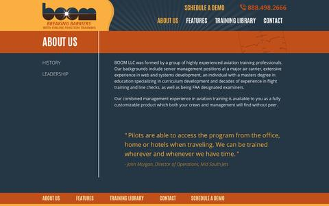 Screenshot of About Page trainingboom.com - About Us - BOOM - captured Oct. 5, 2014