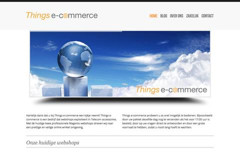 Screenshot of Home Page thingsecommerce.nl - Things e-commerce | - captured Oct. 10, 2014