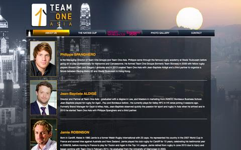 Screenshot of Team Page teamone-groupe-asia.com - Teamone Asia - The Team - captured Oct. 7, 2014