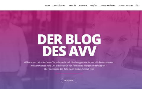 Screenshot of Blog avv.de - Home | Der Blog des AVV - captured Sept. 23, 2018