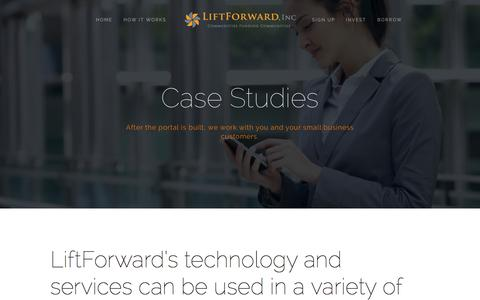 Screenshot of Case Studies Page liftforward.com - Case Studies — LiftForward, Inc. - captured Oct. 28, 2014