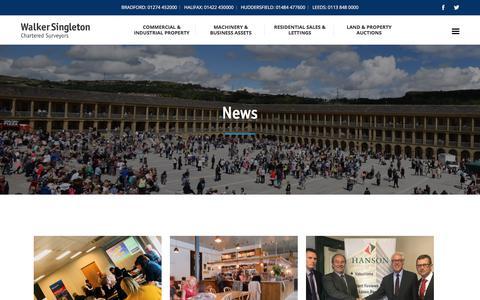 Screenshot of Press Page walkersingleton.co.uk - Latest news and industry insights from Walker Singleton - captured Sept. 20, 2018