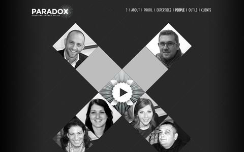 Screenshot of Team Page paradox.fr - People | Paradox - captured Sept. 27, 2014