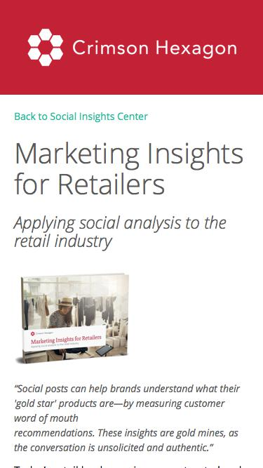 Marketing Insights from Social Data | Guide for Retailers