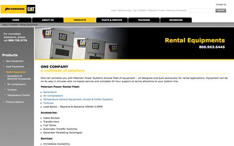 Rental Equipments | Peterson Power
