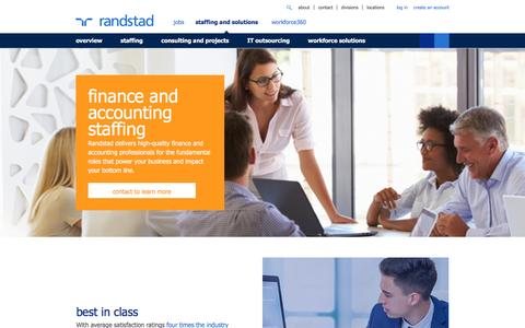Finance and Accounting Staffing | Finance Staffing | Accounting Staffing | Randstad USA