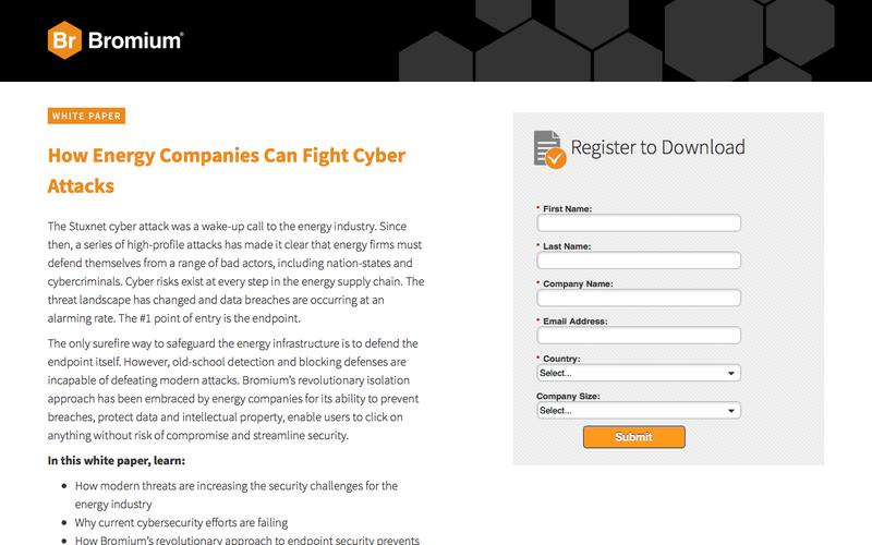 Bromium: White Paper - How Energy Companies Can Fight Cyber Attacks