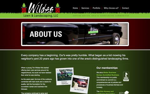Screenshot of About Page wildeslawnandlandscaping.com - Wildes Lawn & Landscaping, LLC   About Us   Learn more about Waynesville, Ohio landscaping company Wildes Lawn & Landscaping - captured Sept. 21, 2018