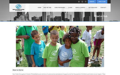 Screenshot of Locations Page bgcphila.org - Find A Club - Boys & Girls Clubs of PhiladelphiaBoys & Girls Clubs of Philadelphia - captured Oct. 6, 2018