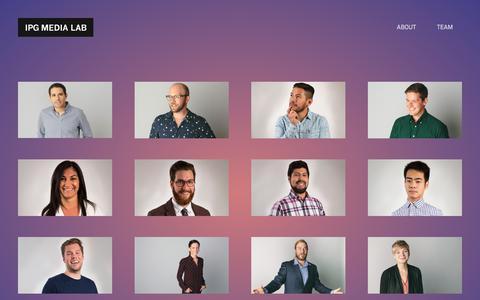 Screenshot of Team Page ipglab.com - Team - IPG Media Lab - captured Sept. 22, 2018