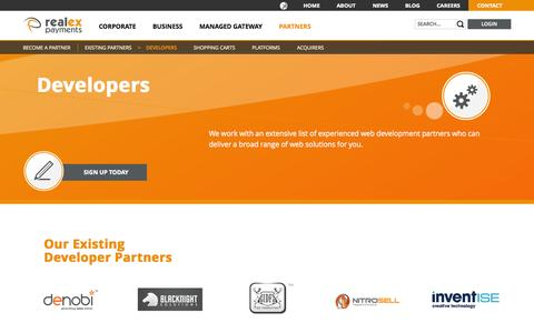 Screenshot of Developers Page realexpayments.com - Developers - Realex Payments - captured Sept. 18, 2014
