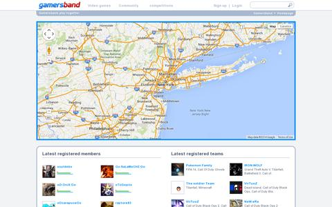 Screenshot of Maps & Directions Page gamersband.com - Geo-social network to find players and video games tournaments near your location. - Gamersband - captured July 19, 2014