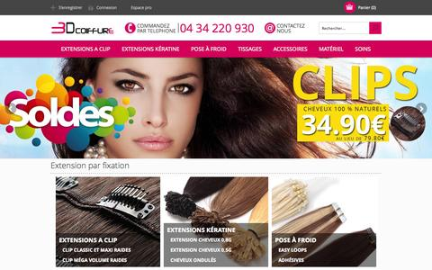 Screenshot of Home Page 3d-extensions-cheveux.com - Extensions 3DCoiffure - captured Jan. 23, 2015