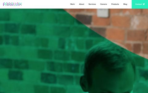 Screenshot of Home Page parall.ax - Parallax   Digital Agency in Leeds and London - captured Sept. 23, 2014