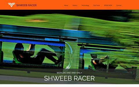 Screenshot of Home Page shweeb.co.nz - Shweeb Racer - captured Oct. 19, 2018