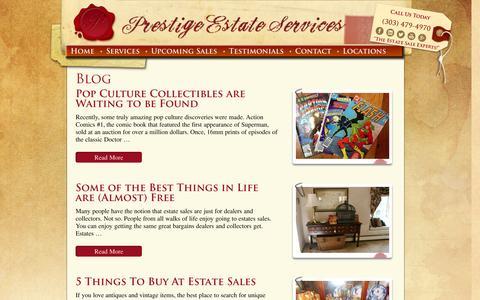 Screenshot of Blog prestigeestateservices.com - Blog Archives - Prestige Estate ServicesPrestige Estate Services - captured Oct. 3, 2014