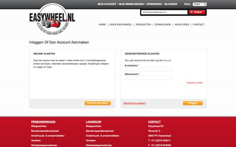 Screenshot of Login Page easywheel.nl - Klant-login - captured Oct. 22, 2014
