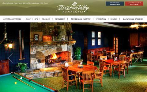 Screenshot of Home Page brasstownvalley.com - Brasstown Valley Resort - Welcome - captured Jan. 17, 2016