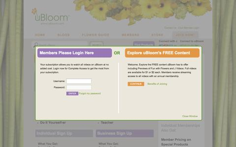 Screenshot of Signup Page ubloom.com - Become a uBloom Member Today - uBloom Administrator | Everything Flowers at uBloom Administrator - captured Sept. 19, 2014