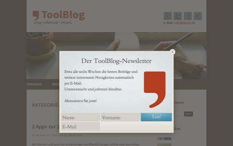Screenshot of Team Page toolblog.de - Management › ToolBlog - captured Feb. 19, 2016