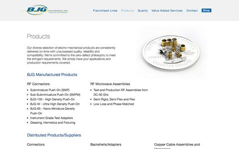 Screenshot of Products Page bjgelectronics.com - Products | BJG Electronics - captured Oct. 29, 2014