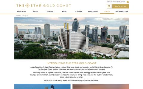 Screenshot of About Page star.com.au - About Us | The Star Gold Coast - captured Oct. 16, 2017