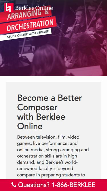 Study Arranging and Orchestration with Berklee Online