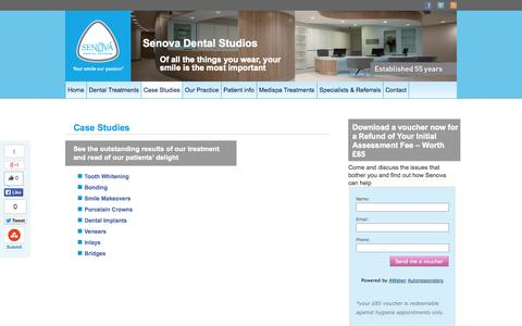 Screenshot of Case Studies Page senovadental.com - Case Studies | Senova Dental Studios - captured Oct. 7, 2014