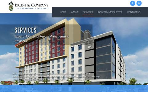Screenshot of Services Page brush-and-company.com - Brush & Company - captured Oct. 7, 2018