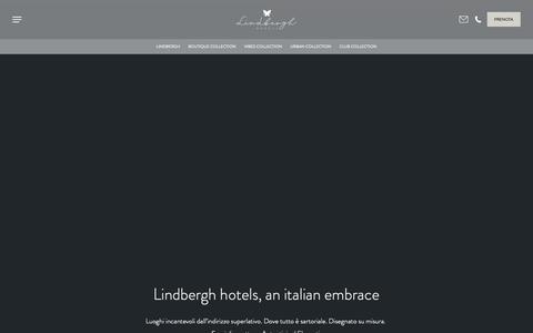 Screenshot of Home Page lindberghhotels.com - Lindbergh hotels, italian embrace - captured Nov. 8, 2018