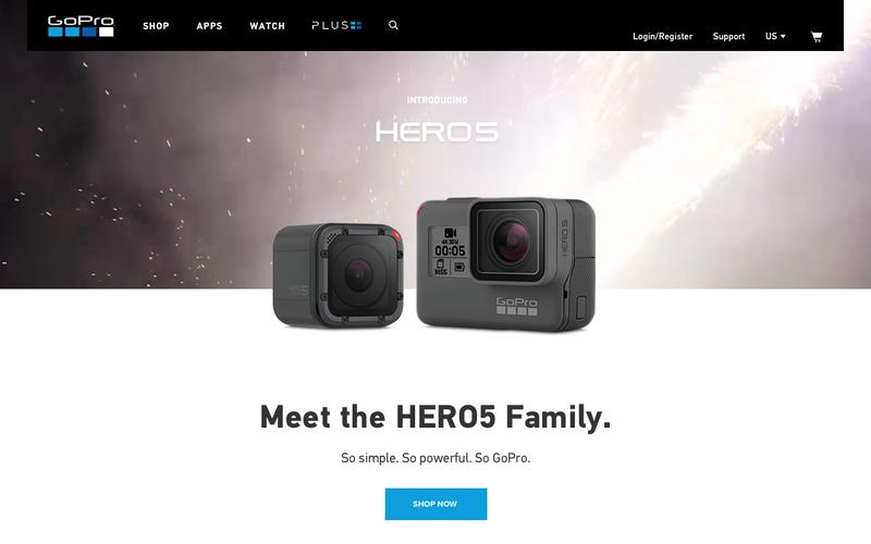Screenshot GoPro Official Website - Capture + share your world - Homepage